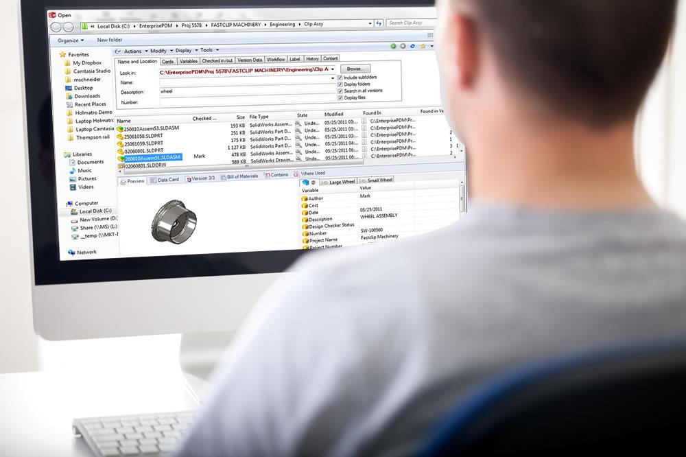 SOLIDWORKS PDM Professional Windows Explorer
