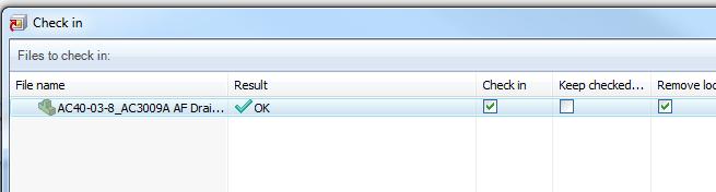 Check in dialog - remove local copy