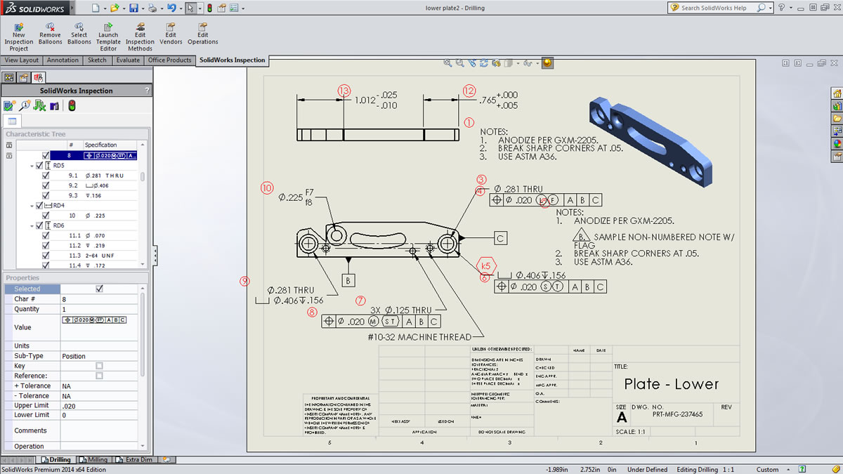 first article inspection procedure template - solidworks inspection for first article inspection packages