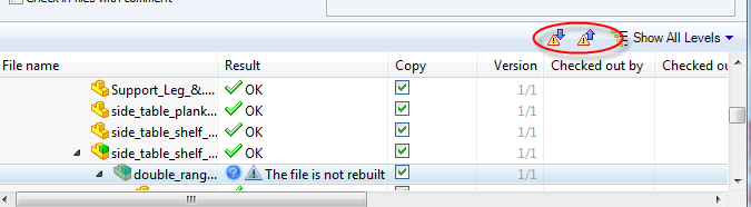 File Warning Options
