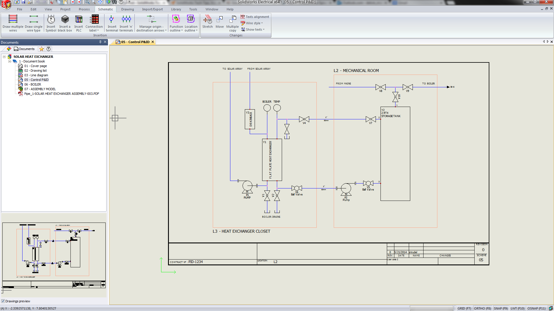 Solidworks Electrical Piping Instrumentation Wall Outlet Wiring Diagram Get Free Image About Pid 2d