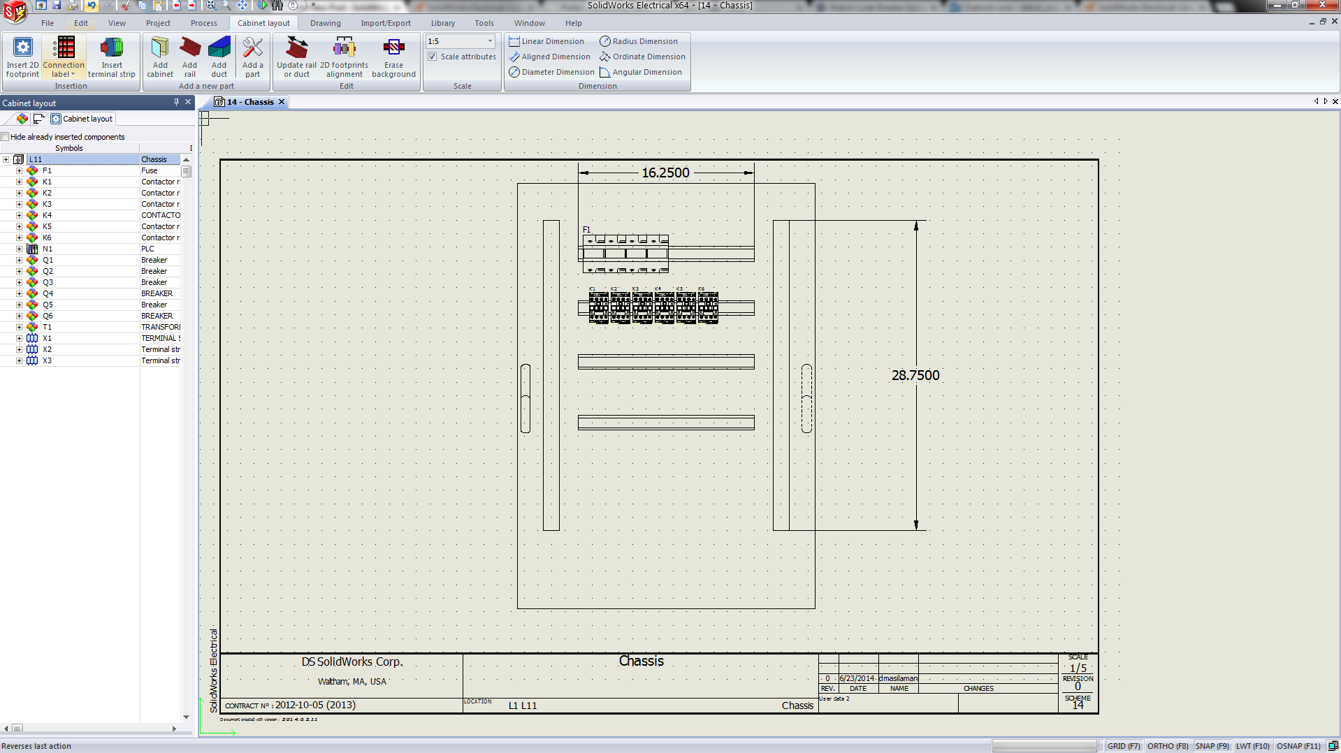SolidWorks Electrical Cabinet Layout