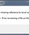 Full drive error message