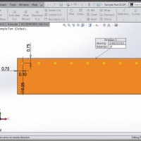 SolidWorks 2015 - Linear Pattern - Up to Reference