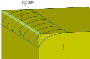 Asymmetric Fillet