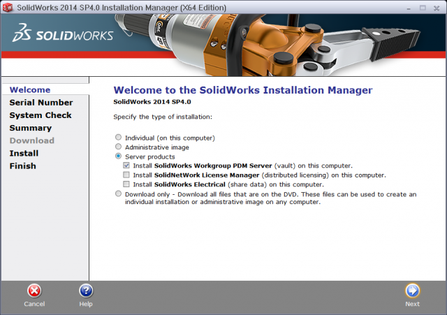 Install the Workgroup PDM Vault Service