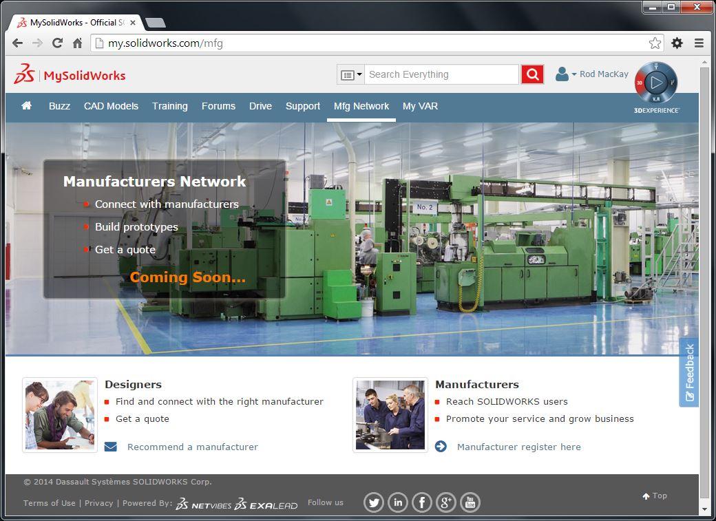 MySolidWorks Manufacturing