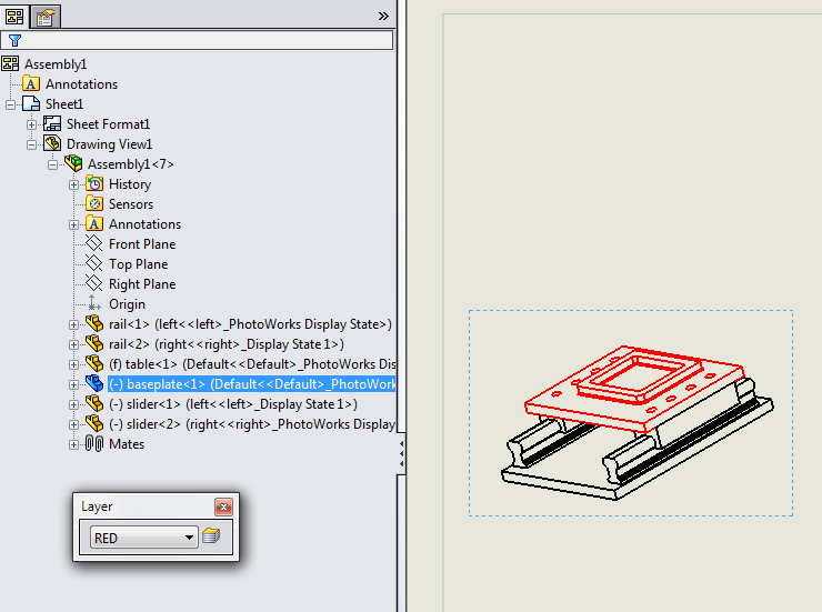 Red Layer Assigned