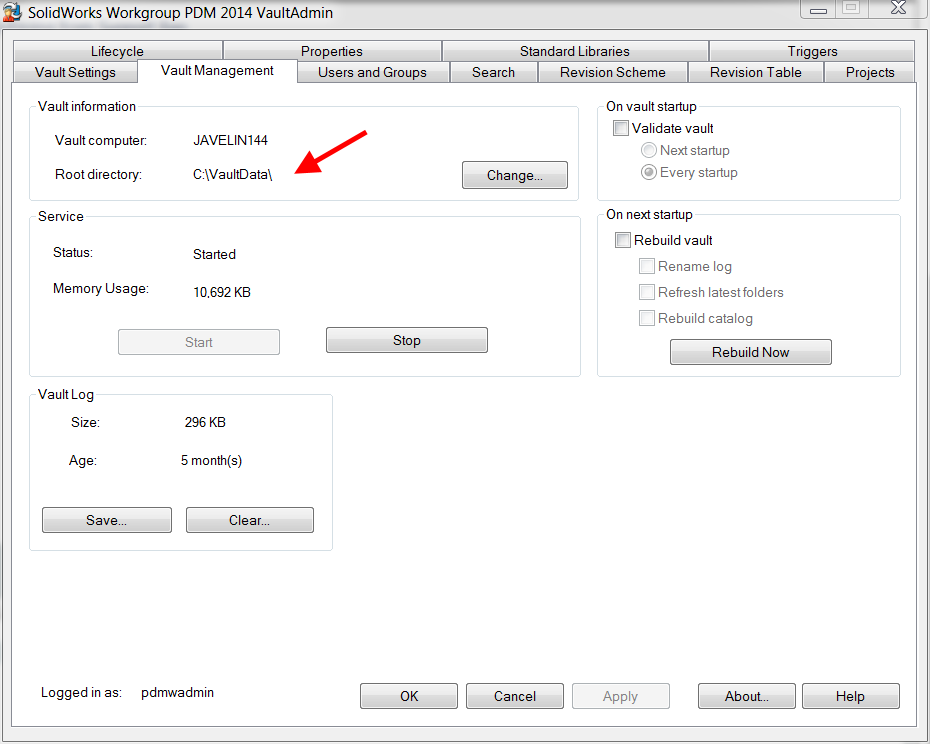 Locate the root directory folder