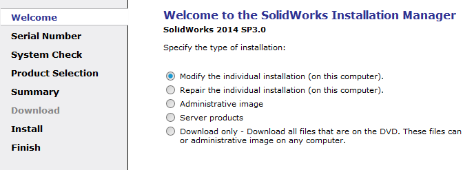 Modify Installation