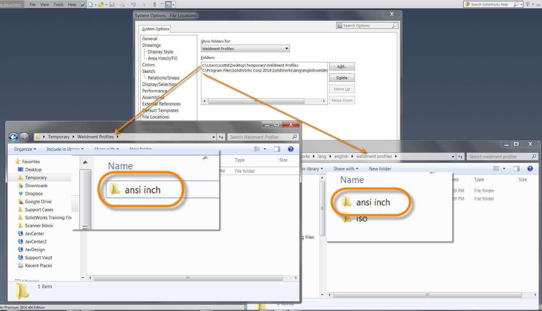 Duplicate Weldment Profile Type Folders