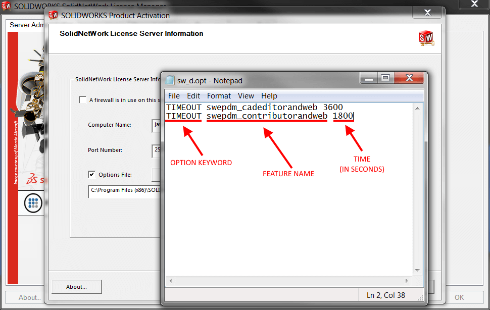 Write Options File