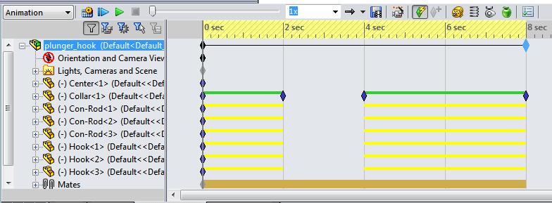 Scaled animaton