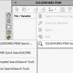 Do you know that SOLIDWORKS PDM has a Search Tool?