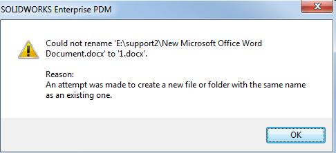 duplicate file warning