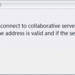 Unable to Connect to Collaborative Server SOLIDWORKS Electrical Error!