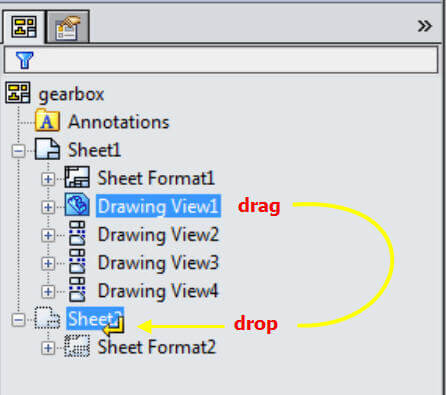 SOLIDWORKS Drawing Move View