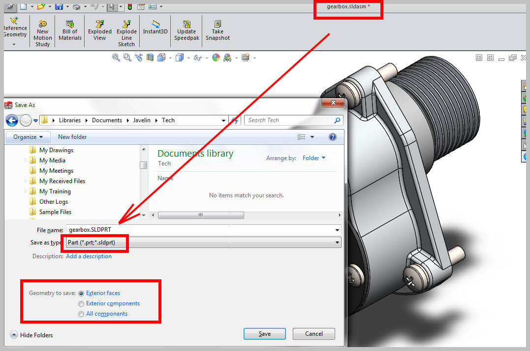 Save Solidworks Assembly As A Part