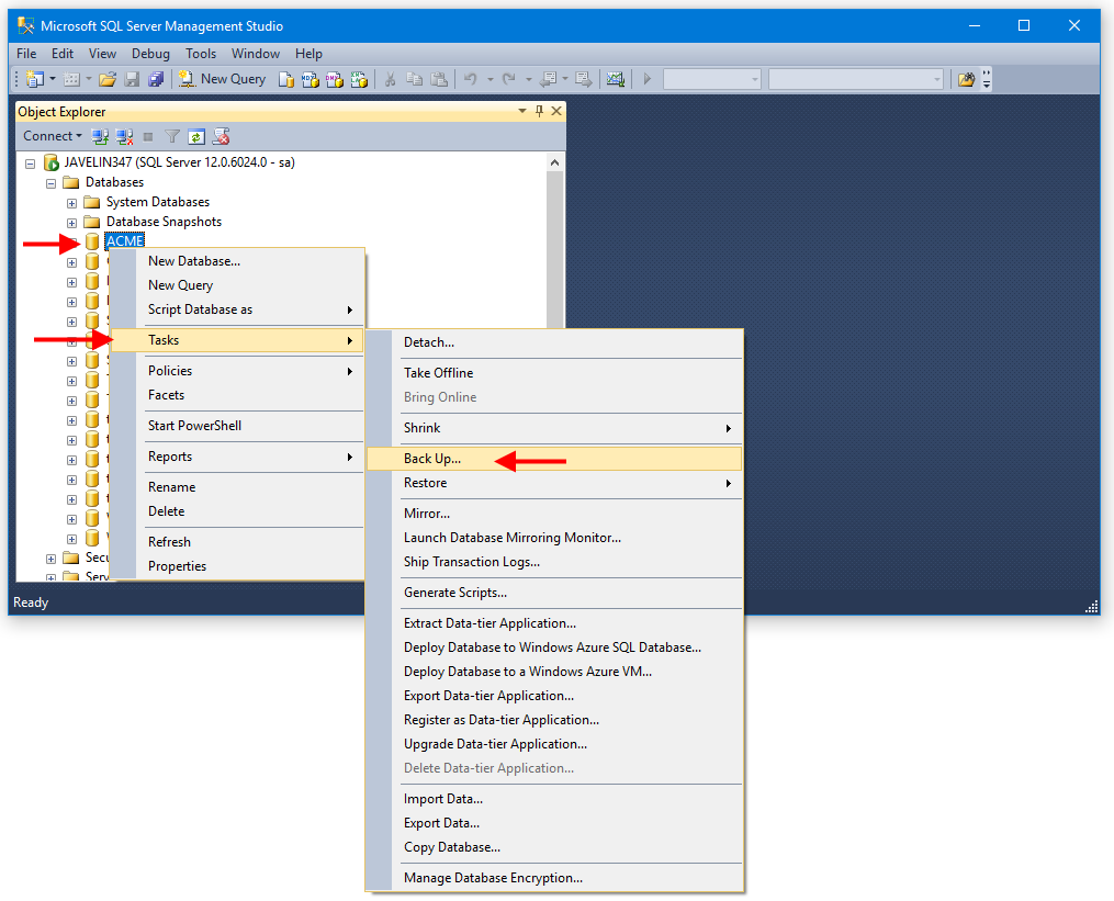How To Manually Backup the SOLIDWORKS PDM Database