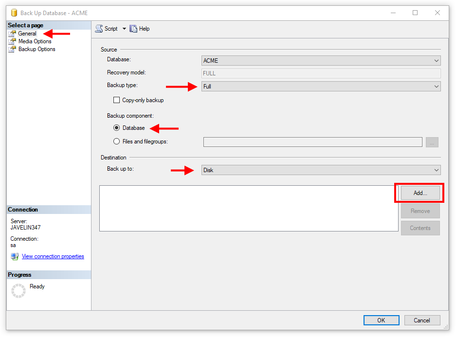 Backup the SOLIDWORKS PDM Database