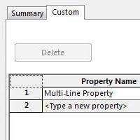 SOLIDWORKS Multi-line Custom Properties