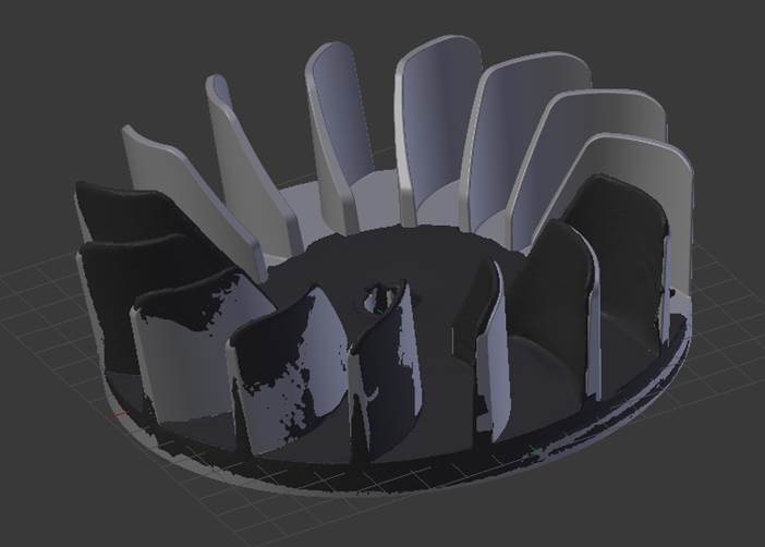 Scanned & Modeled Impeller Design