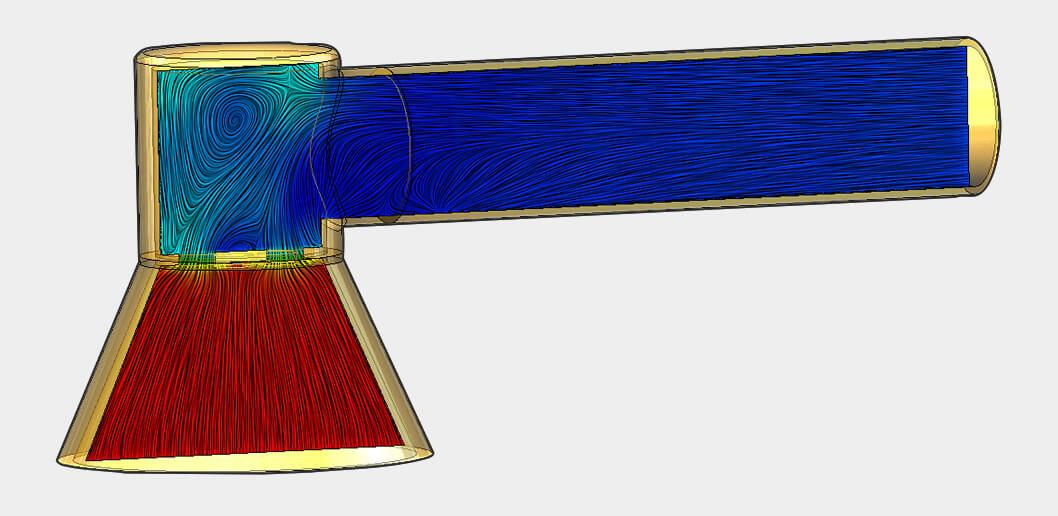 Flow Simulation Pressure Drop Analysis