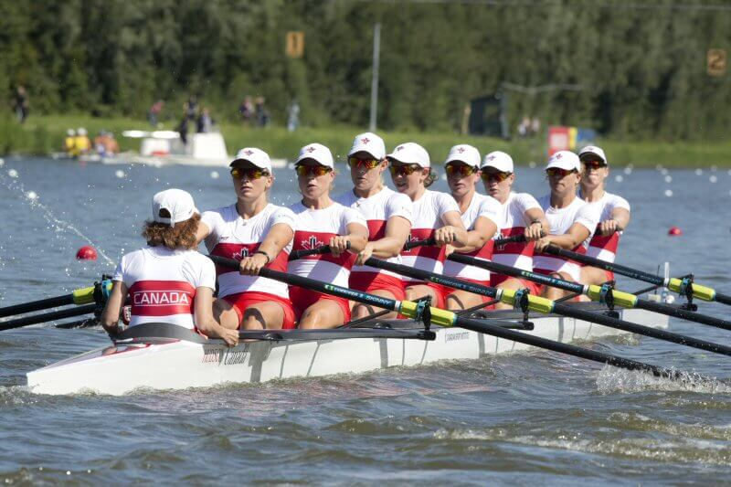 Canadian Womens 8+ at the World Rowing Championships