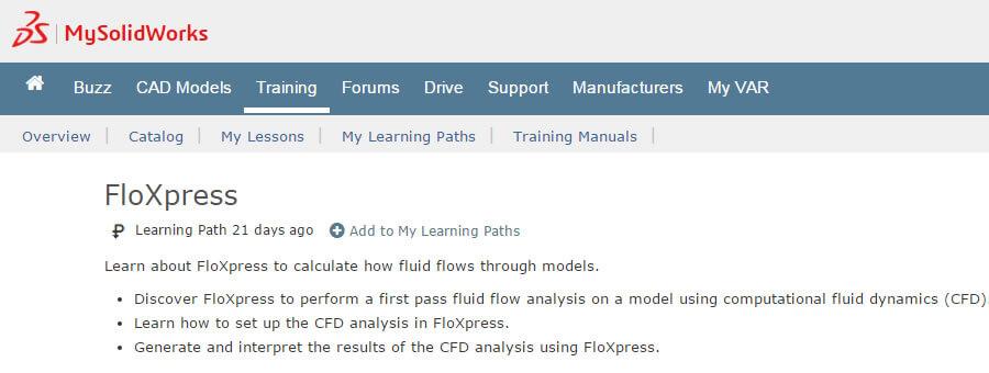 MySolidWorks Add Learning Path