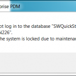 How to lock the SOLIDWORKS PDM Vault