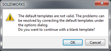 The default templates are not valid
