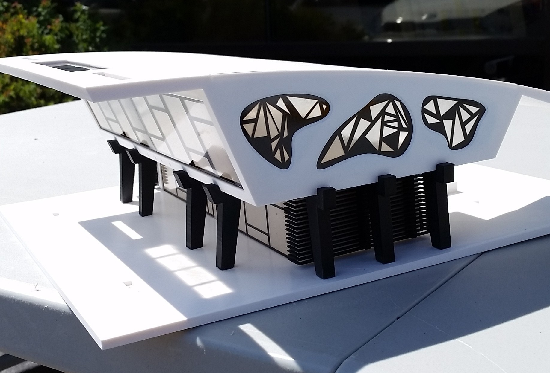 3D Printed model without accessories added