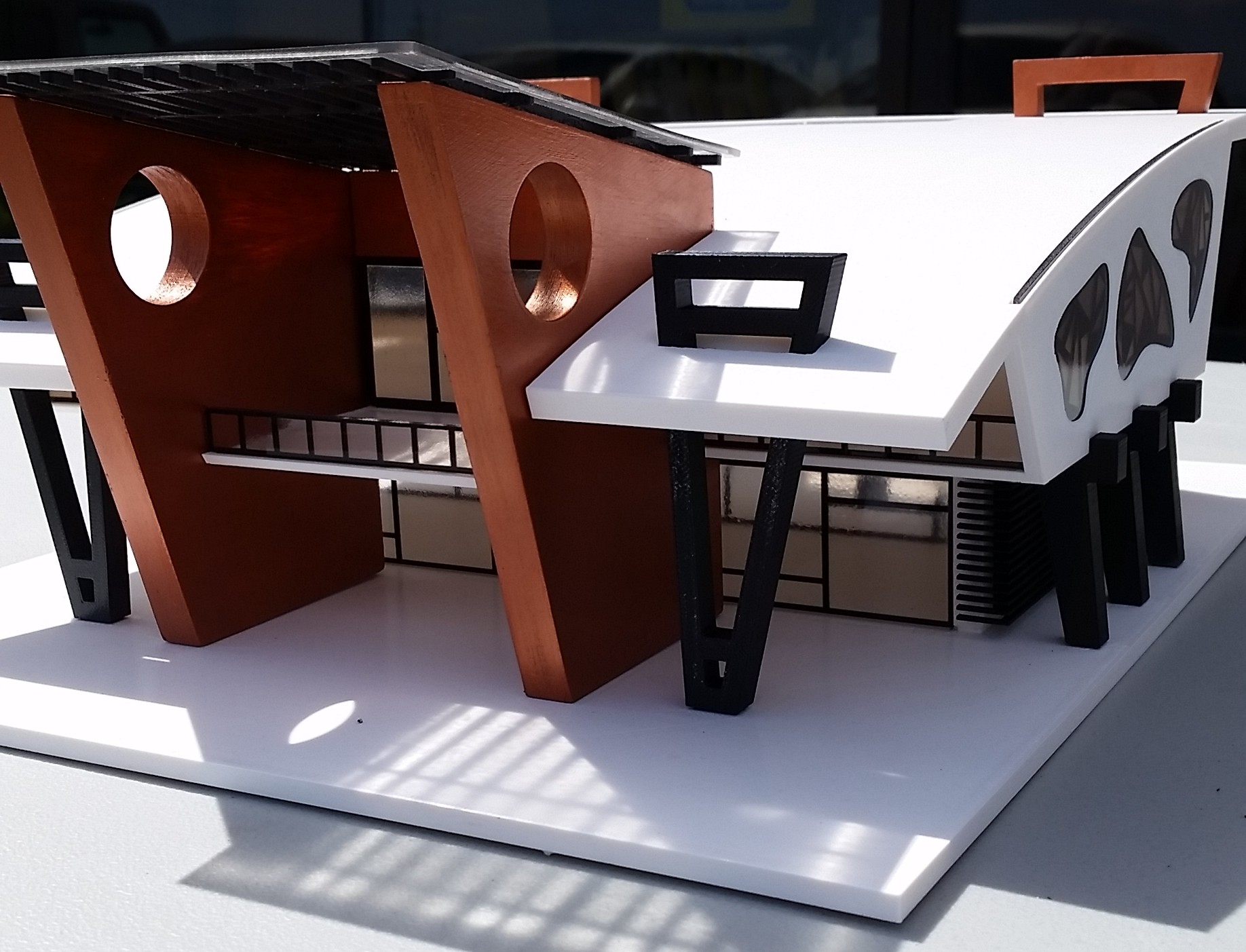 3D Printed Architectural Model Finished Assembly
