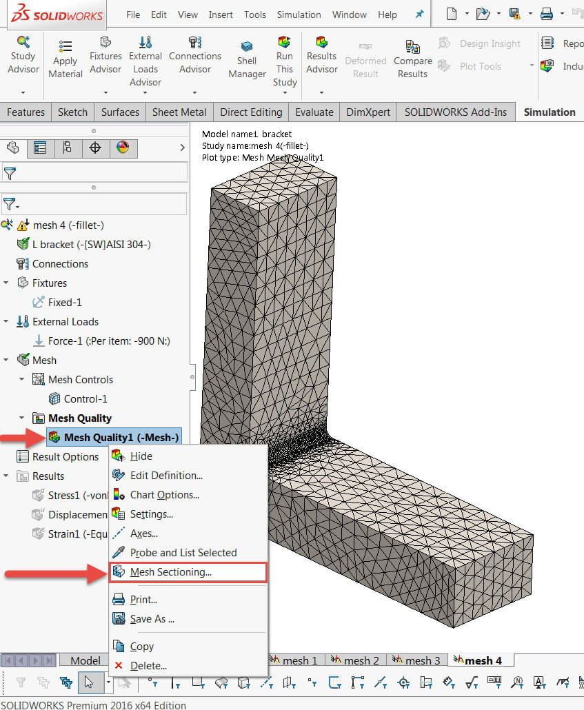 Pre-Processing Mesh Sectioning Option