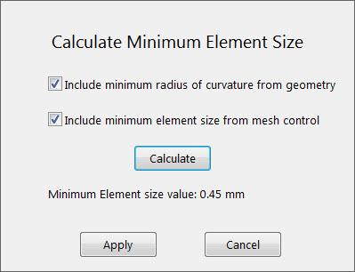 Calculate Minimum Element Size