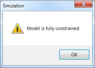Solver Message if Model is Fully Constrained