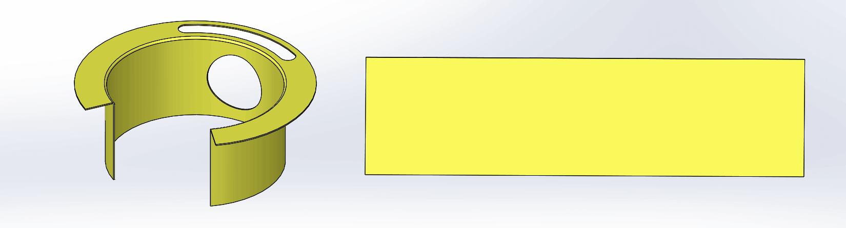 SOLIDWORKS 2015 Sheet Metal SweptFlange Flat Pattern