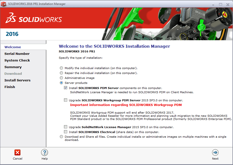 SOLIDWORKS PDM Professional 2016 Installation