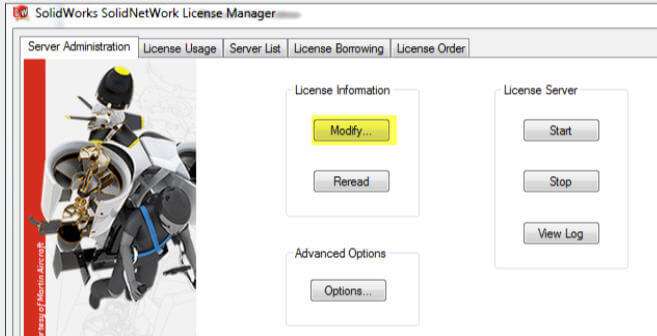 SolidNetWork License Manager Manual Activation