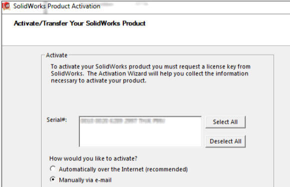 Select Manually via e-mail