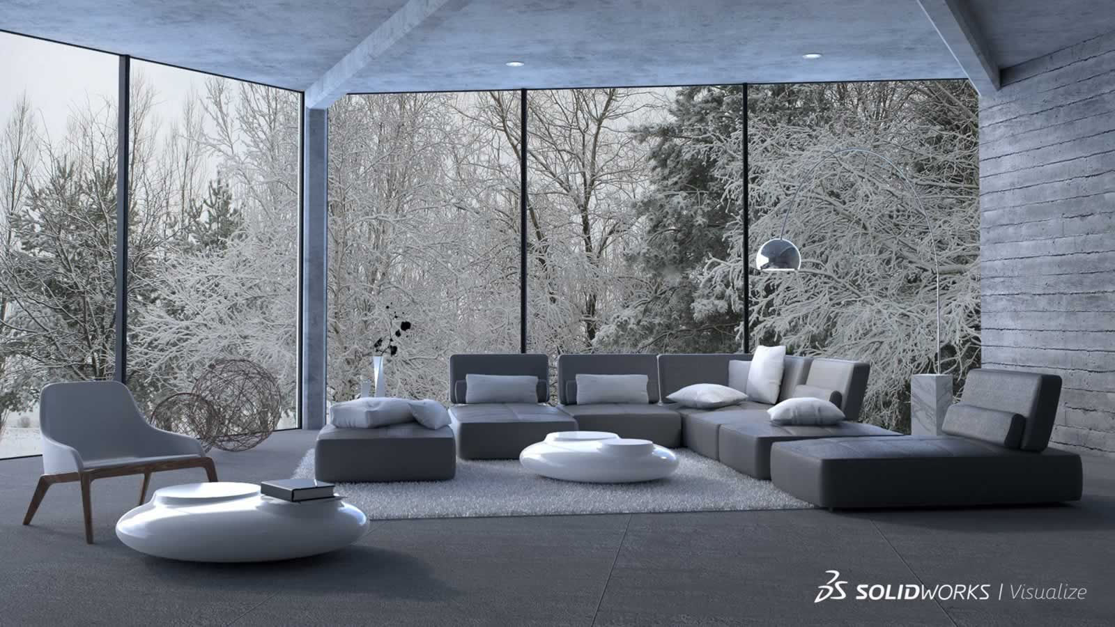 Solidworks visualize rendering tool for engineers for Interior architecture designs