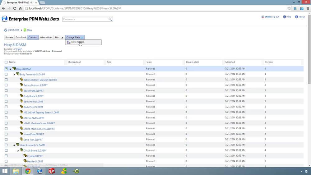 Enterprise PDM Web2 Client