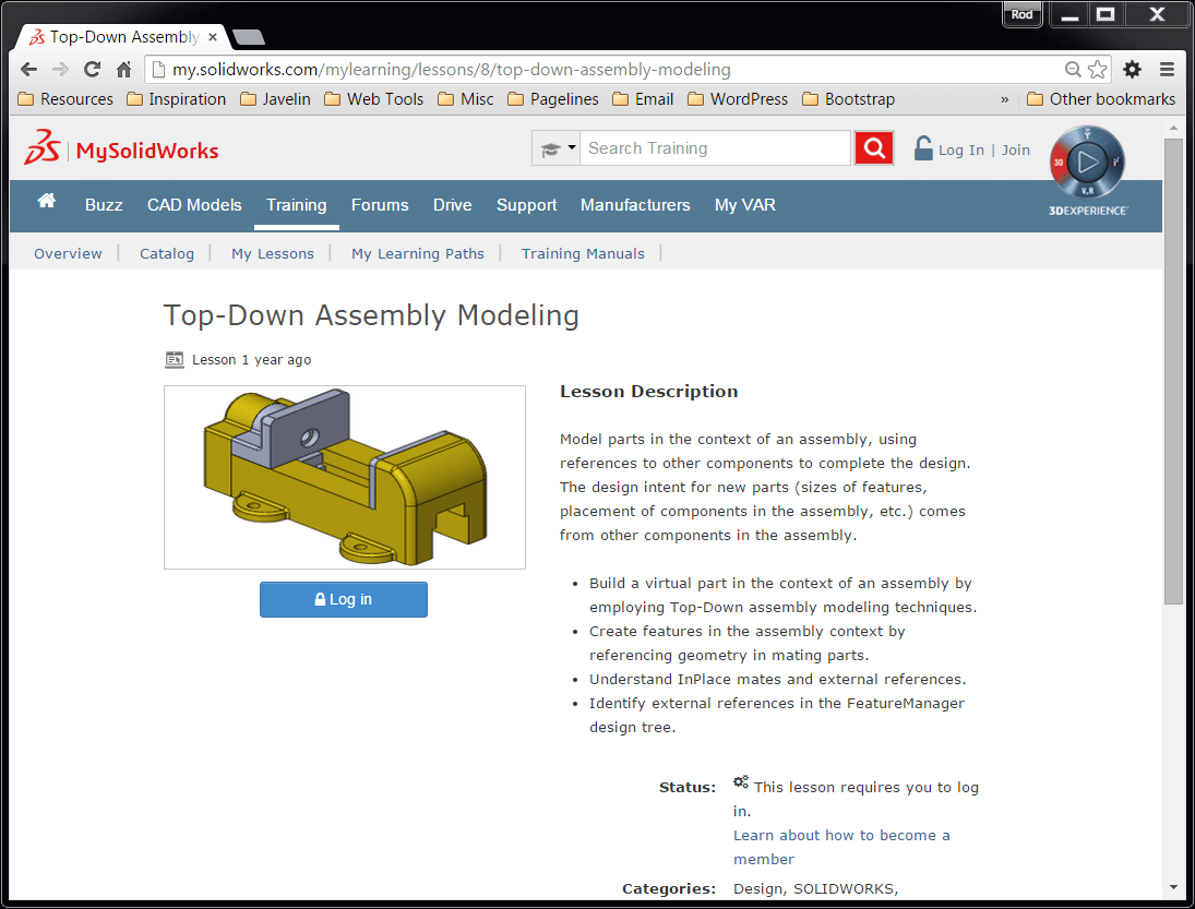 Assembly Modeling Video Lessons