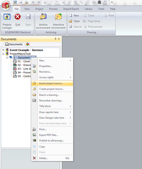 SOLIDWORKS Electrical 2016 Project Macros