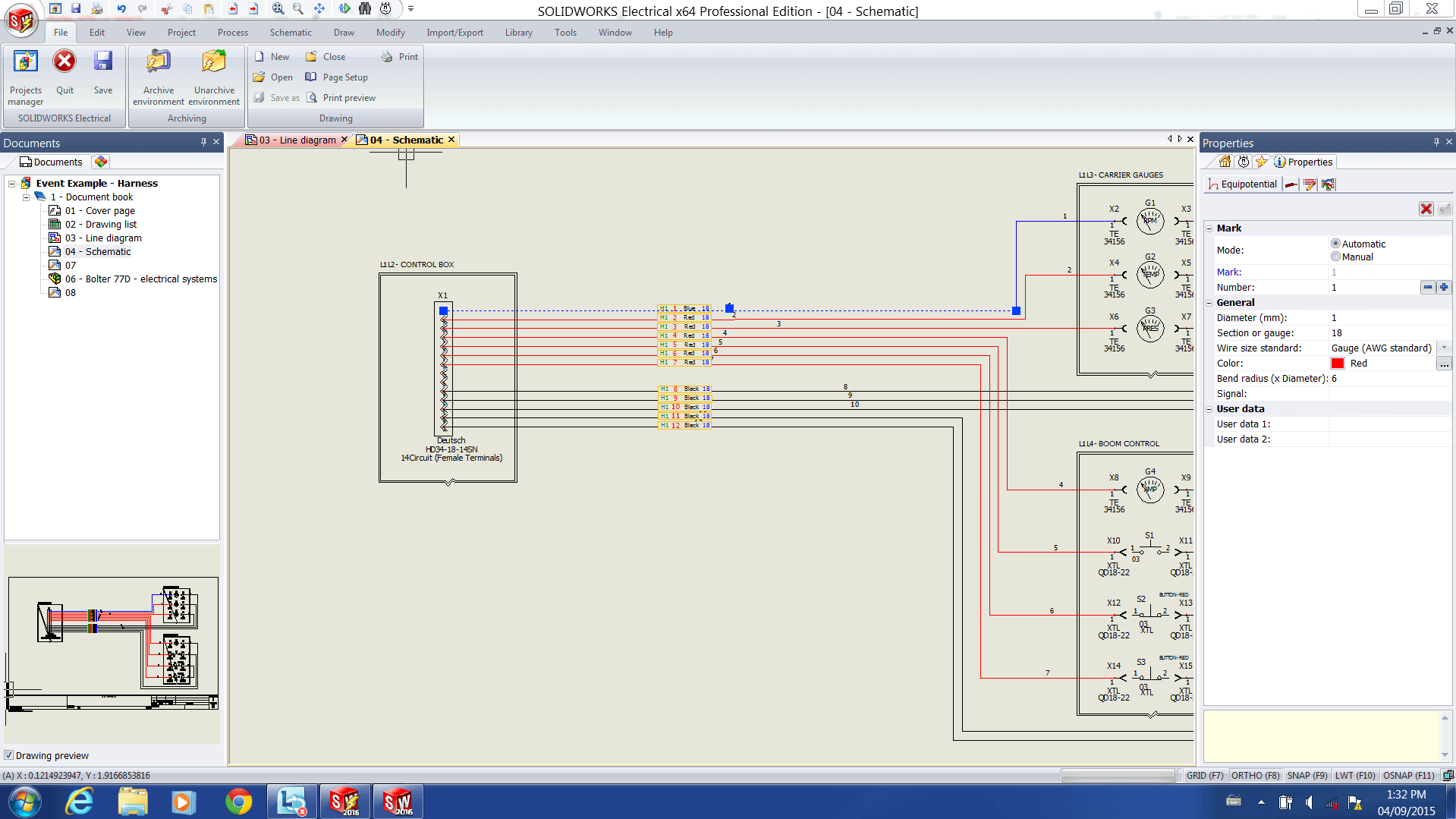 solidworks electrical 2016 new properties side panel properties of a wire
