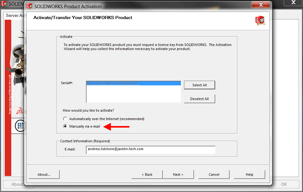 How to Manually Activate a SOLIDWORKS Network License