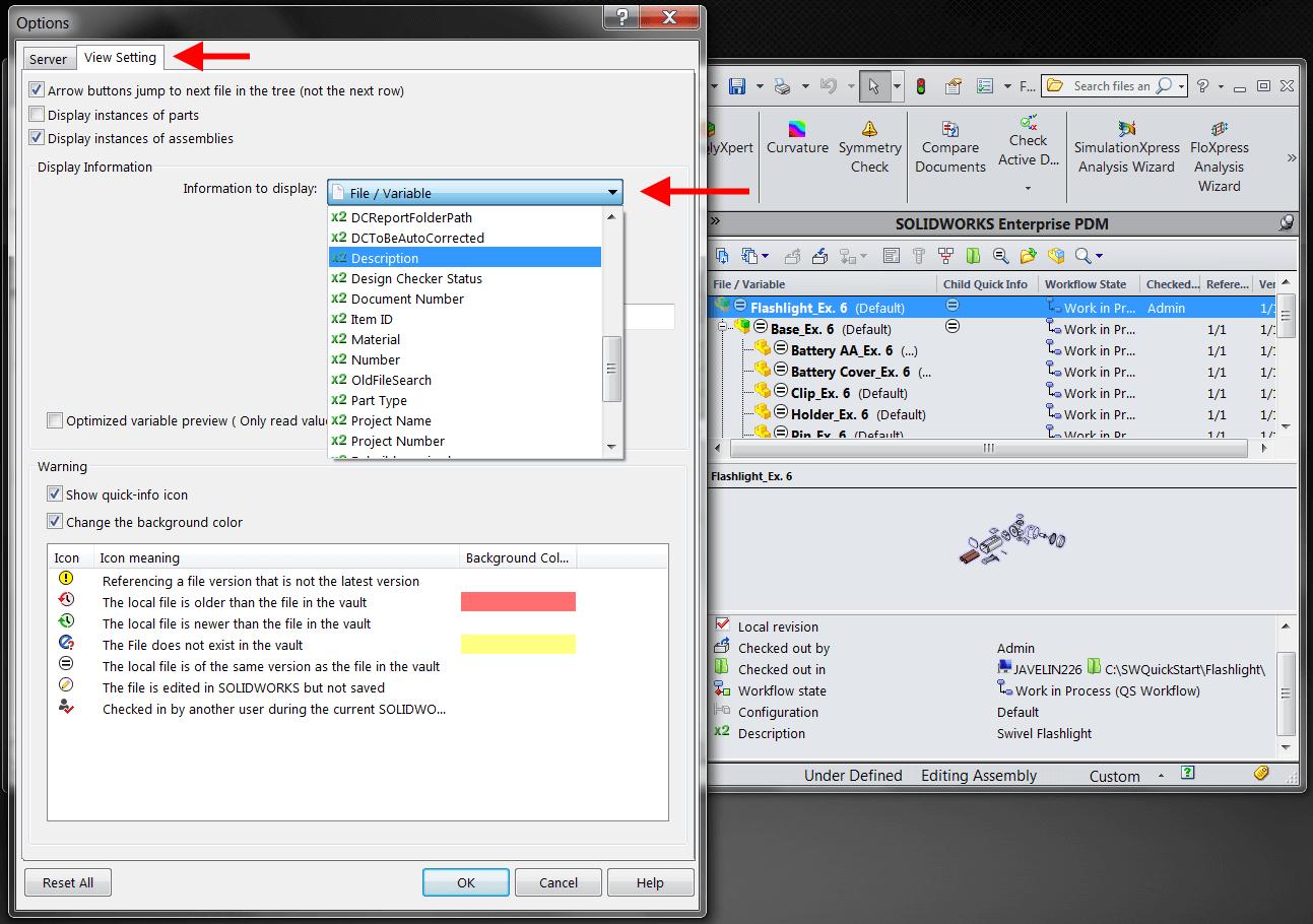 Select Variable[s] to display