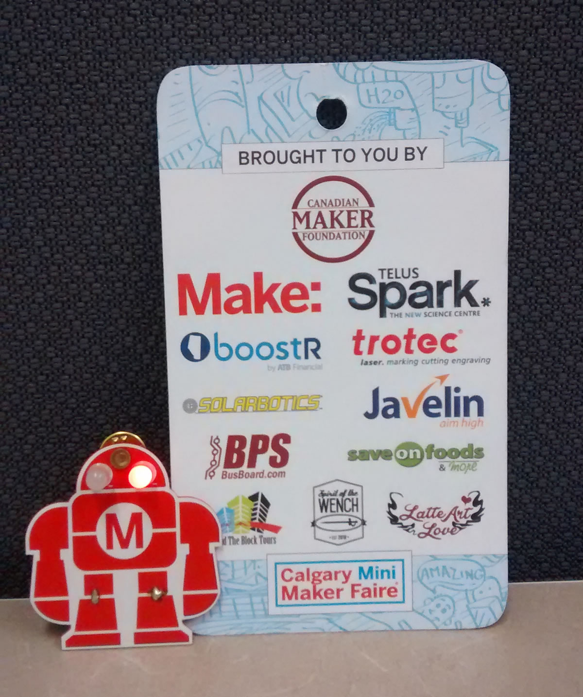 Event Sponsors and Robot learn to Solder Kit