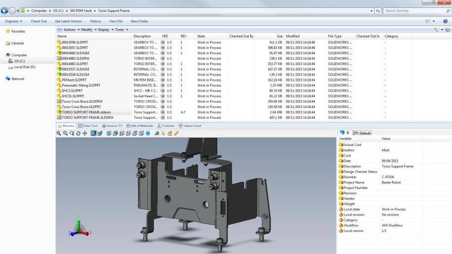 SOLIDWORKS 2016 PDM Standard not available