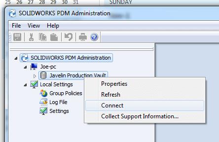 SOLIDWORKS PDM Standard Client Setup